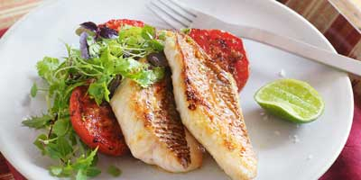 Ginger & chilli snapper with tomato