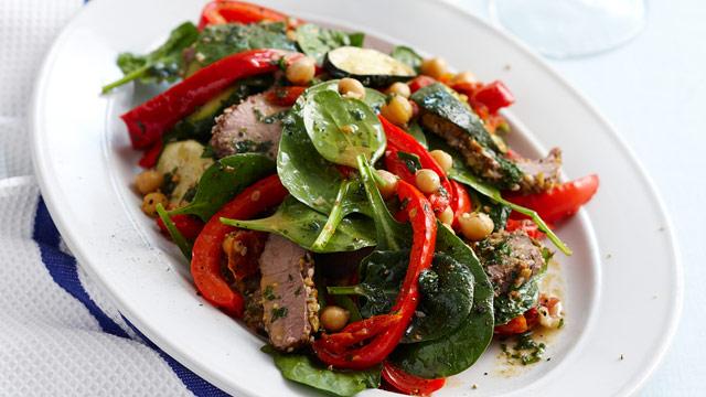 Lamb and chick pea salad