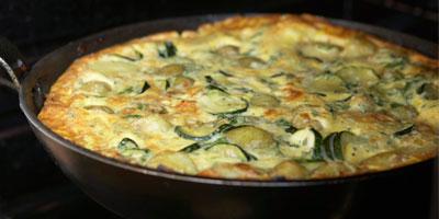 Organic-egg omelette