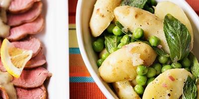 Minted pea & potato salad