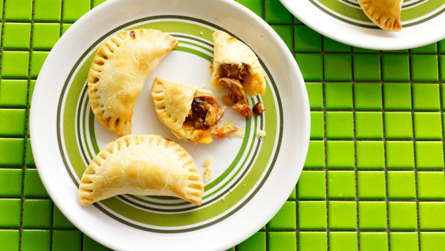 Chicken, raisin and pine nut empanadas
