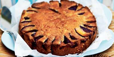 Red plum cake
