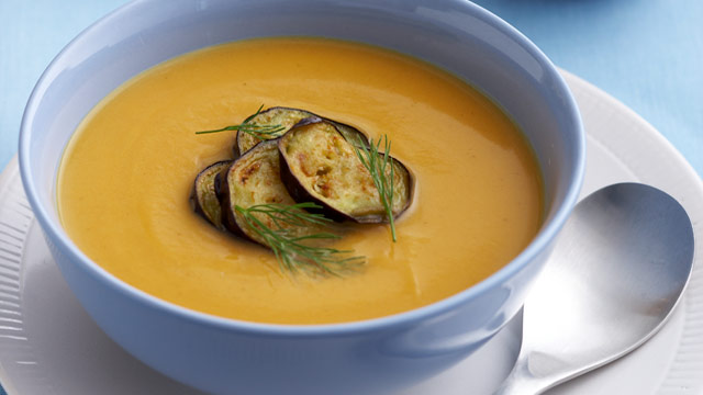 Roast kumara & fennel soup for $7.80