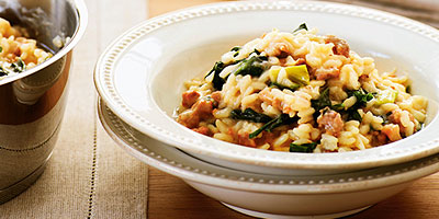 Sausage and Fontina Risotto
