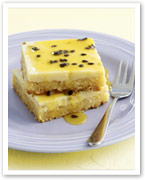 Lemon passionfruit slice