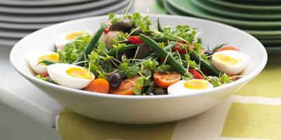 Vegetarian salade niçoise