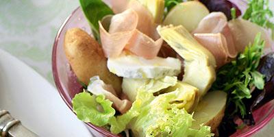 Artichoke, prosciutto & potato salad