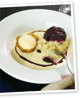 Individual mixed berry puddings