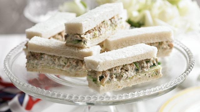 Cucumber crab sandwiches