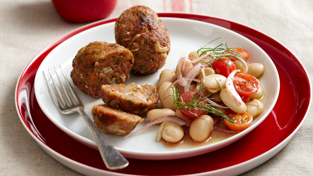 Fennel sausages with salad $10