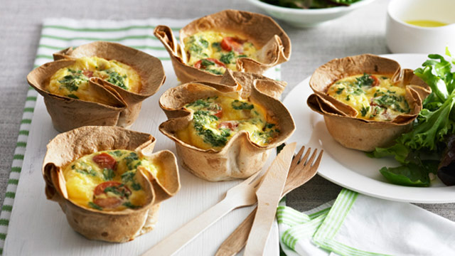 Salami and ricotta frittata cups for $10