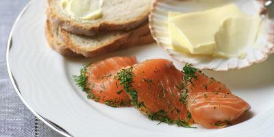 Orange & star anise salmon gravlax