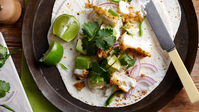 Spicy fish tortillas