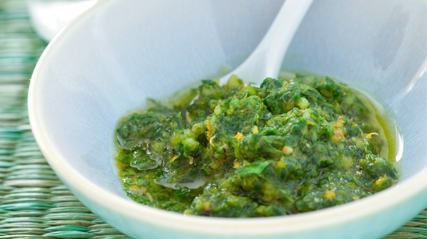 Herb and caper pesto