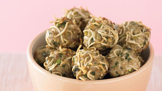Pork and noodle balls