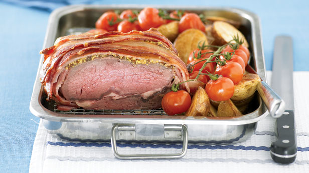 Beef and bacon roast