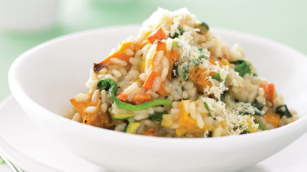 Roast vegetable risotto