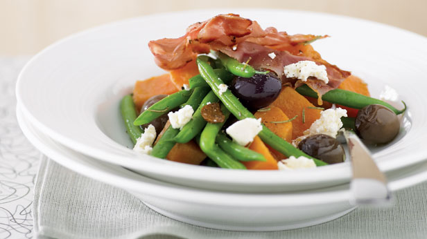 Sweet potatoes and beans nicoise