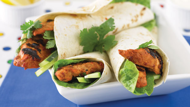 Tandoori chicken wraps