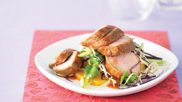 Barbeque pork and pineapple salad