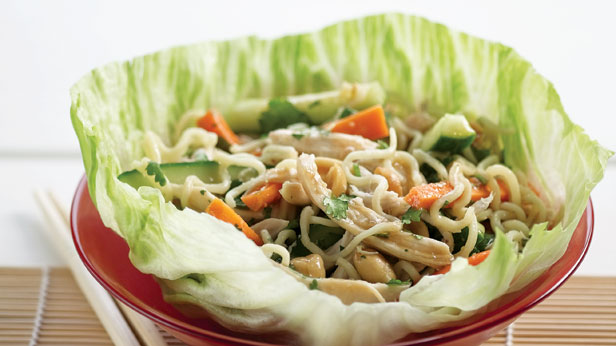 Chicken san choy bow salad
