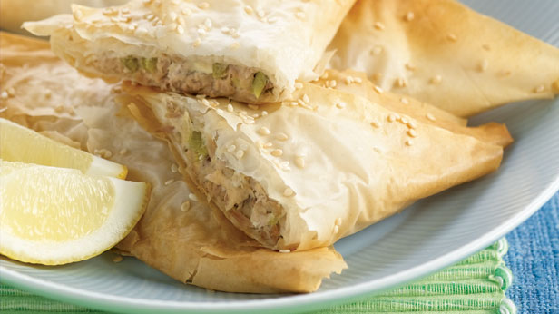 Tuna and celery triangles