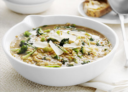 Broccoli and bean soup