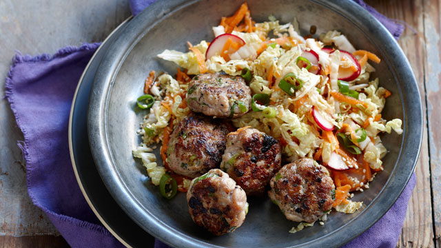 Asian-style chicken meatballs