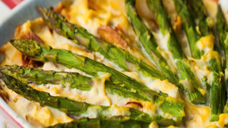 Asparagus and ricotta tart