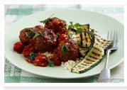Moroccan balls with grilled zucchini
