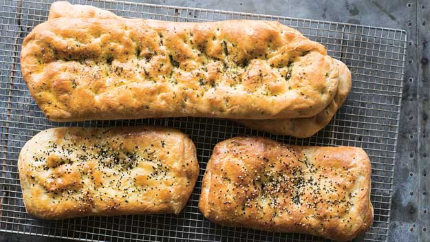 Tahini and thyme flatbread