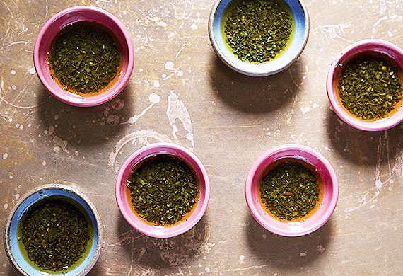 Chimmichurri sauce for grilled meats