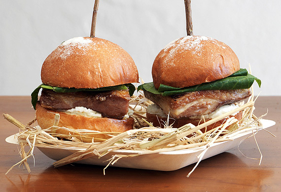 Biota's lamb belly sliders with pecora curds (Jason Loucas)