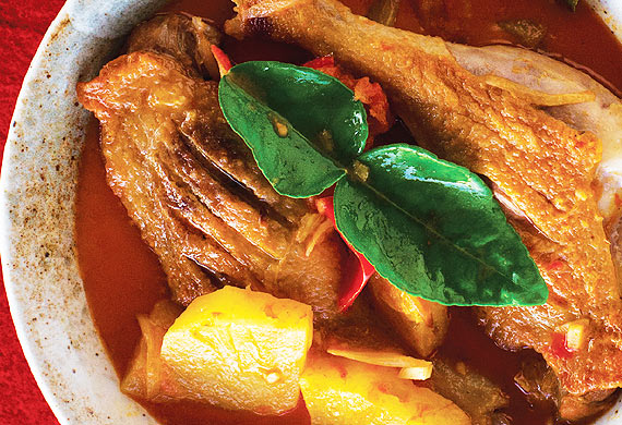 Red duck and pineapple curry