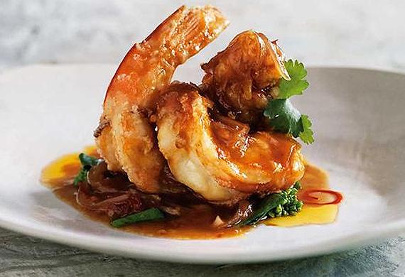 Spice I Am's prawns with tamarind sauce