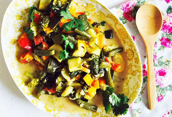 Lee Holmes' autumn vegetable casserole