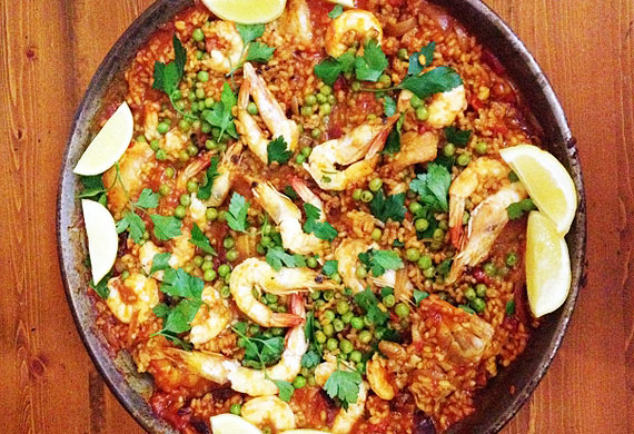 Bree May's prawn and chicken paella