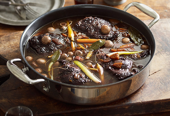 Beef daube with baby vegetables