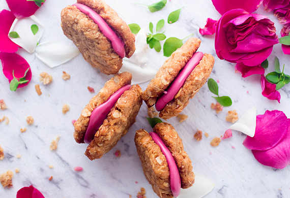Anzac berry sandwich biscuits