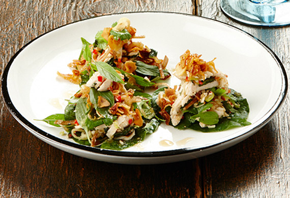 Gary Mehigan's chicken laab betel leaves