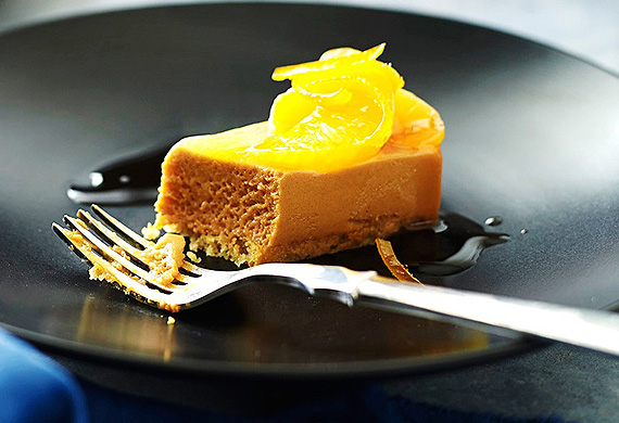 Caramel mousse and candied sumo mandarin