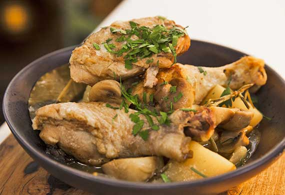 Zoe Bingley-Pullin's chicken cassoulet (chicken casserole)