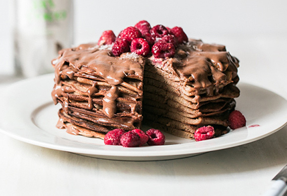Buckwheat chocolate pancakes