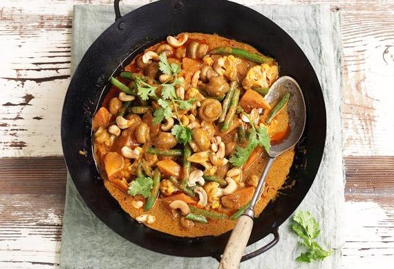 Mushroom korma curry