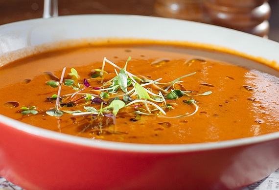 BearBrass' baked tomato and basil soup