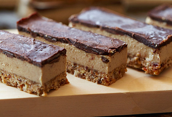 Brooke Meredith's raw vegan caramel slice