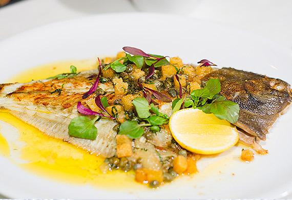 Neil Martin's whole flounder grenobloise