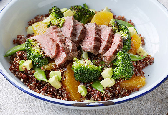 Caitlyn Paterson's grilled lamb and quinoa salad