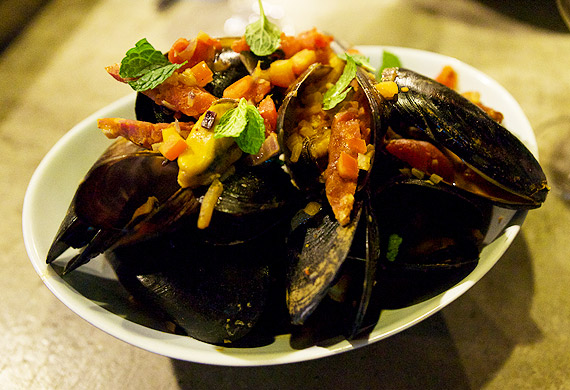 Ray Larkins' Spanish mussels with chorizo