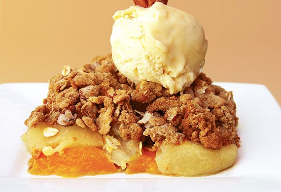 Annette Sym's fruit and nut cobbler